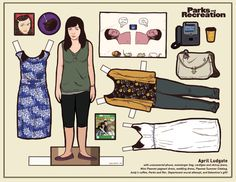 April Ludgate Paper doll