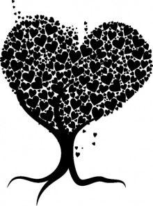 Naklejka na ścianę Drzewo miłości