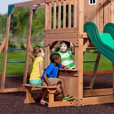 8794027ce2b5 Backyard Discovery Playsets - Montpelier Wooden Swing Set Outdoor Chairs,  Outdoor Walls, Outdoor Furniture