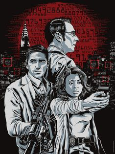 """I was recently commissioned by Gallery Warner Brothers, and Bad Robot on a poster for the CBS show """"Person Of Interest."""" The poster was given away. Person of Interest Movies Showing, Movies And Tv Shows, John Reese, Slow Burn, Person Of Interest, New Memes, Photos Du, Best Tv, Found Art"""