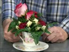 teacup arrangements | ... demonstrates how to make tea cup flower arrangements in this free o