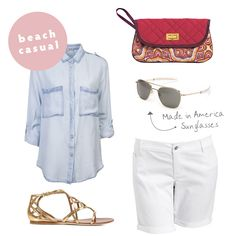 Headed to the beach this summer? We love this beach casual style! cinda b blog