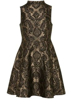 Great holiday dress. Bronze paisley dress - Dorothy Perkins