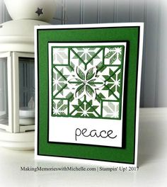 Quilted Christmas, with Quilt Builder Framelits.    MakingMemorieswithMichelle.com    Stampin' Up! 2017