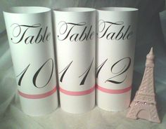 Elegant Table Number LUMINARY Towers by evelynne99 on Etsy, $1.85