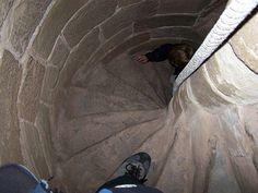 Keep Stairs - Goodrich Castle near Ross-on-Wye, Wales (1160, 1270)