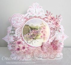 Marianne's Design Divas: Challenge 6 : Anything goes with minimum 3 MD products option lace and or ribbon Marianne Design Cards, Shabby Chic Cards, Easel Cards, Art Cards, Heartfelt Creations, Pop Up Cards, Pretty Cards, Flower Cards, Vintage Cards