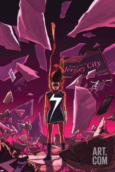 Art.fr - Poster 'Ms. Marvel #16 Cover Featuring Ms. Marvel (Kamala Khan)' par Kris Anka