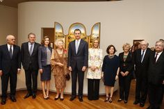 Royals & Fashion -  King Felipe, Queen Letizia and Princess Beatrix of the Netherlands inaugurated an exhibition on El Bosco in the Prado Museum in Madrid.