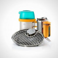This nifty camping stove lets you grill, boil, cook and charge your phone all at once.