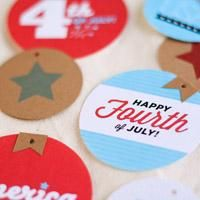 Free download, 4th of July, Party favor tags, table decoration, Paper Badges | Dotcoms for Moms