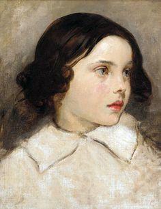 Thomas Couture (1815-1879) Etude de Jeune Fille