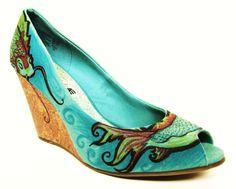 Hand Painted Shoes Koi Fish Beach Wedding by LoveMirandaMarie, $125.00