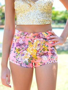 b2245681029b2b fiesty summer florals and gold sequin bandeau...perfect for lolla Teen  Fashion