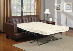 Coaster Furniture - Samuel Dark Brown Leather Sleeper Sofa - 504070