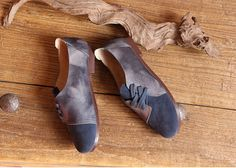 Handmade Women Shoes,Dark Blue Oxford Shoes, Flat Shoes, Retro Leather Shoes, Casual Shoes, Slip Ons, Loafers More Shoes: https://www.etsy.com/shop/HerHis?ref=shopsection_shophome_leftnav ♥♥♥♥♥♥If you do not know which size you need to choose, please tell me the length of your feet, I would