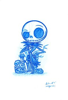 ~Jack Skellington~ a cute pencil sketch to try and draw. Jack Skellington, Cute Disney, Disney Art, Disney Drawings, Cute Drawings, Arte Tim Burton, Art Minimaliste, Nightmare Before Christmas, Cute Art