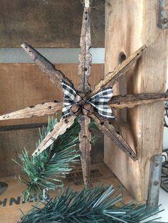 Clothes pin snowflake ornament von BBAHomemade auf Etsy