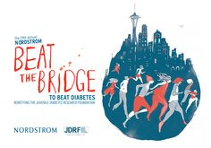 Beat the bridge is a great #Seattle 8K.  We love the feeling of finishing at Husky Stadium!
