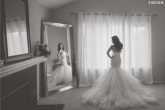 """Wedding Bells for Michelle ~ A look at the glittering and glamorous wedding of Michelle and Michael in Southern California, and her show-stopping custom Lauren Elaine """"Jasmine"""" gown!"""