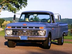 """Ford F-100 - front plate says """"1965,"""" so I feel sure that's correct.  Someday I'll find out the differences between the '65 & the '66 models.  Nice looking truck."""