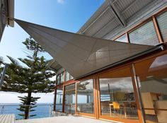 Retracting shade sails give flexibility depending on the time of year and weather.