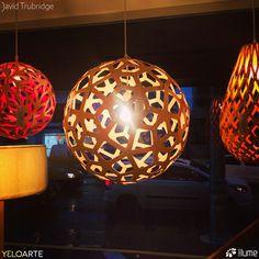 Luminária Pendente Floral, Coral e Koura.  David Trubridge, distribuído pela Mais Lume, com revendedores em todo o país. maislume@gmail.com www.maislume.com