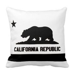 Shop California Republic Throw Pillow created by Personalize it with photos & text or purchase as is! Santa Maria California, California Bear, California Republic, Pillow Talk, Custom Pillows, The Neighbourhood, Throw Pillows, Bears, Lamps