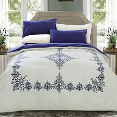 Draps Design, Bed Cover Design, Bed Comforter Sets, Mexican Home Decor, Moroccan Design, Bed Covers, Linen Bedding, Luxury Bedding, Bed Sheets
