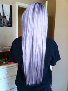 Lavender pastel hair. I want this color dip dyed.