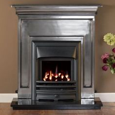 Barcelona Fascia Cast Fireplace Package / can I have this with a glass inset gas fire???