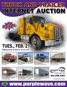 February 21 truck and trailer equipment auction - http://www.purplewave.com/a/120221