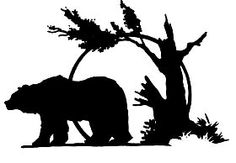bear silhouettes | Silhouette Bear