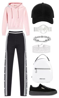 """Sem título #116"" by kira-volkov on Polyvore featuring moda, Vetements, Puma, Armani Jeans, rag & bone, Accessorize e Rado"