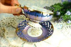 Lovely Little Vintage Porcelain Teacup and by HappyGalsVintage