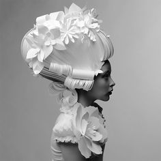 Russian Paper Artist Reinterprets Baroque Wigs With A Modern Flair