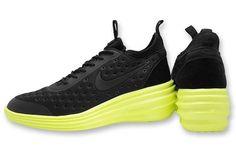 New Nike Womens Wmns Lunar Elite Sky Hi Fashion Shoes Black Volt Wedge 6.5-9.5