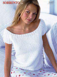 womens knitting pattern womens top short sleeve sweater summer