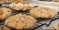 Recipe: 3 Ingredient Peanut Butter Cookies