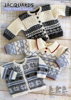 Anny Blatt Hors-serie n° 1 - 壹一 - 壹一的博客 Cardigan Bebe, Knitted Baby Cardigan, Knit Baby Sweaters, Baby Knitting Patterns, Knitting Designs, Baby Patterns, Vintage Patterns, Baby Boy Knitting, Knitting For Kids