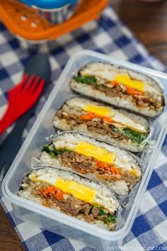 Bulgogi Onigirazu (Rice Sandwich) | Easy Japanese Recipes at JustOneCookbook.com #KoreanFoodRecipes