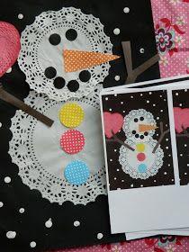 the vintage umbrella: snowman cards