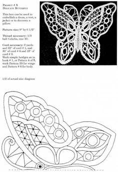 Romanian Lace - Her Crochet Russian Crochet, Irish Crochet, Crochet Motif, Crochet Lace, Crochet Stitches, Crochet Doilies, Needle Lace, Bobbin Lace, Crochet Butterfly