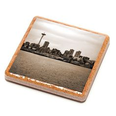Seattle Skyline Stone Drink Coaster