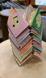 Music Fortune Teller Stack  Patterns for making musical fortune tellers for your students. The kids love these things!!
