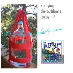 Water Bottle Carriers available in many colors and sizes.  Custom made in San Diego by Www.TheWaterLady.com