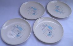 Franciscan Oasis Plates Set of 4