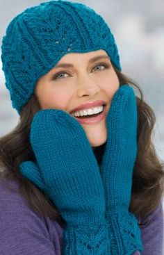 free knitting pattern hat and mittens set