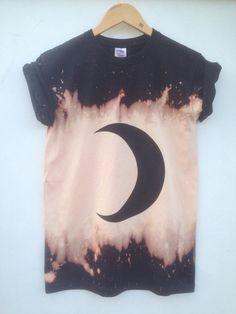 Black Moon Crescent Phase Hemd dunkle Grunge von tappingtonandwish