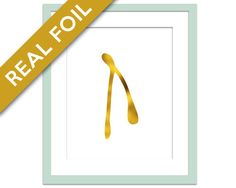 Wishbone Art Print - Real Gold Foil Print - Food Poster - Gold Foil Kitchen Wall Art - Food Art - Kitchen Art Print - Motivational Art